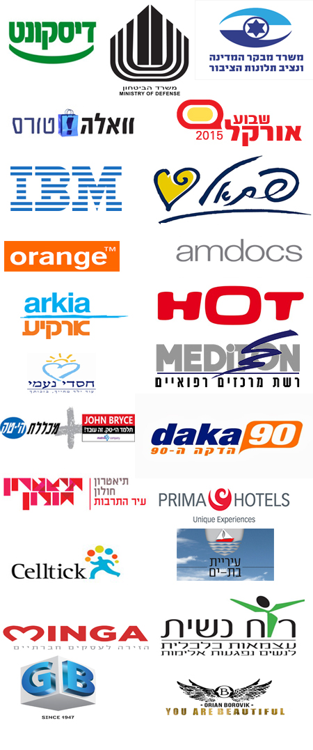 משתתפים בקורסים ובהדרכות לארגונים ולחברות