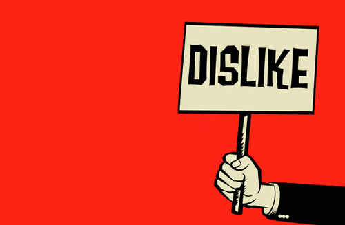 dislike-facebook-organic-post-down