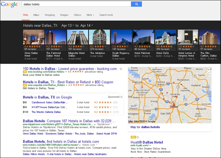 google carousel for local places
