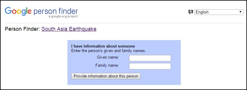 google person finder_info about someone