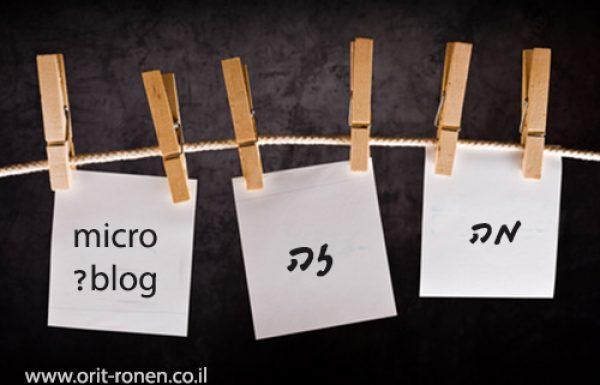 מה זה מיקרובלוגינג?