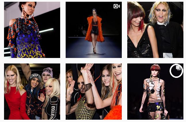 versace instagram