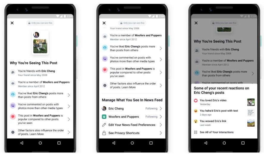 פייסבוק נותנת לנו כלים להתאמת תוכן בניוז פיד