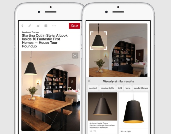 visual search tool on pinterest